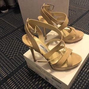 Jimmy Choo Vamp Sandals, Nude Patent